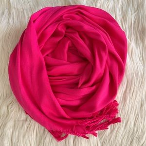 Jones New York Fringe Scarf or Wrap, Pink